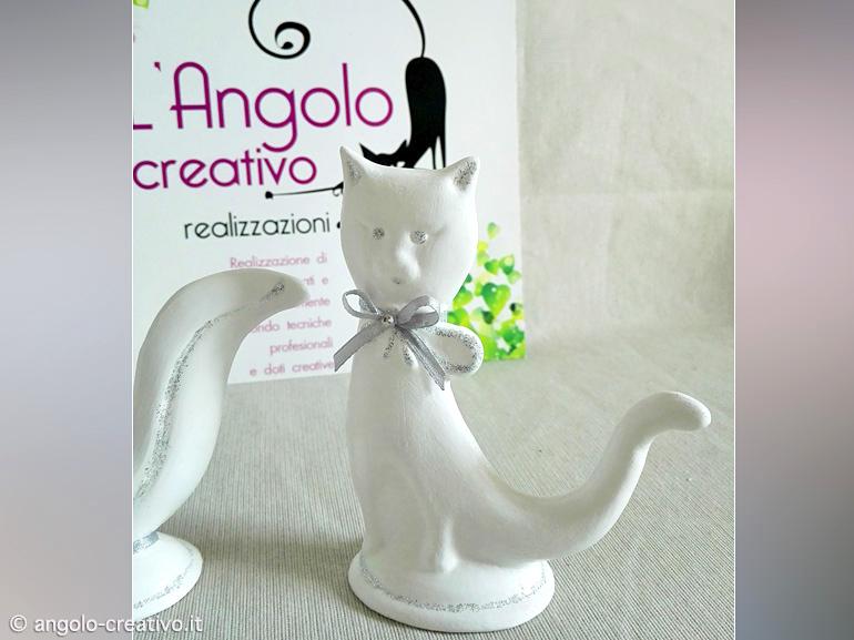 Bomboniere Matrimonio Gatti.Bomboniera Ceramica Matrimonio Gatto Stilizzato Angolo Creativo
