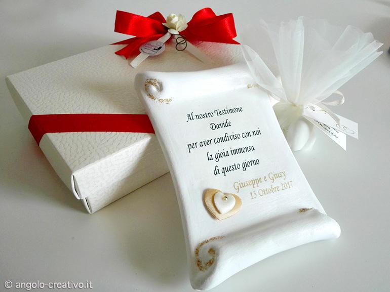 Pergamena Segnaposto Matrimonio.Pergamena Personalizzata Angolo Creativo Bomboniere Per
