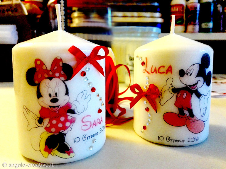 Bomboniere Matrimonio Walt Disney.Walt Disney Candle Angolo Creativo Bomboniere Per Matrimonio