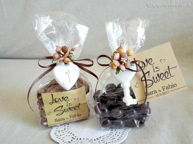 spesso Segnaposto Chicchi Cioccolato - Angolo Creativo Bomboniere ZL33
