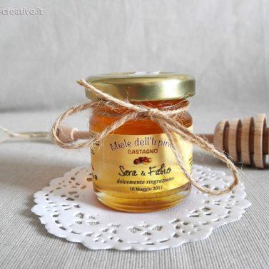 Segnaposto miele Castagno